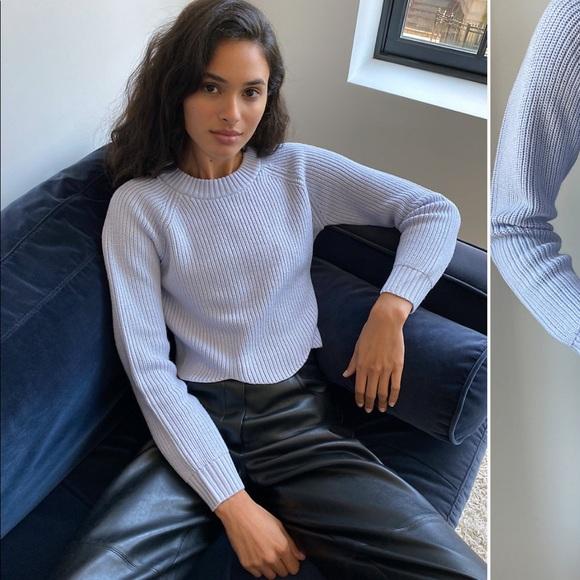 Aritzia sardonic sweater in xxs in grey.